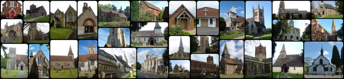 collage of Surrey churches